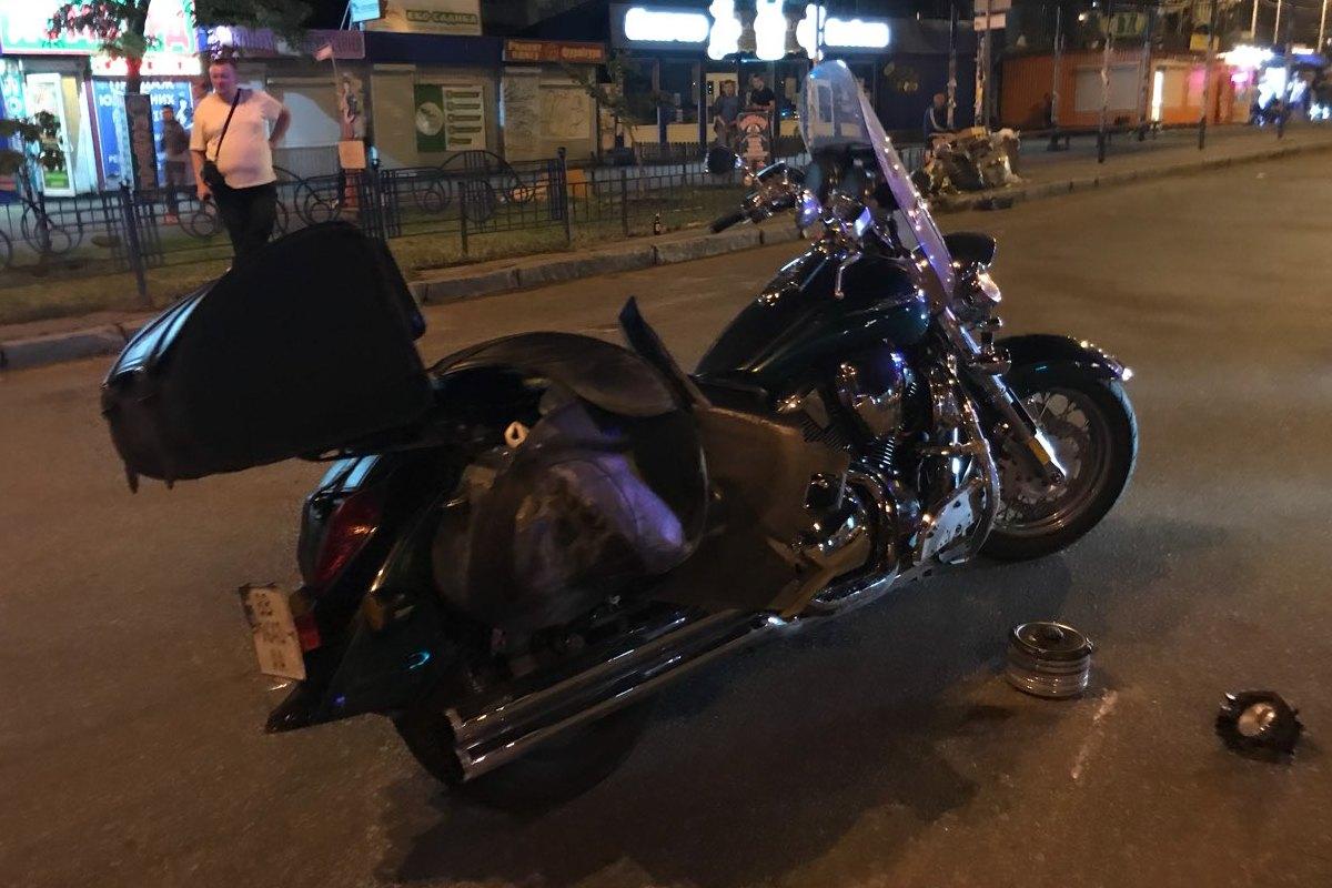 Пострадал водитель мотоцикла