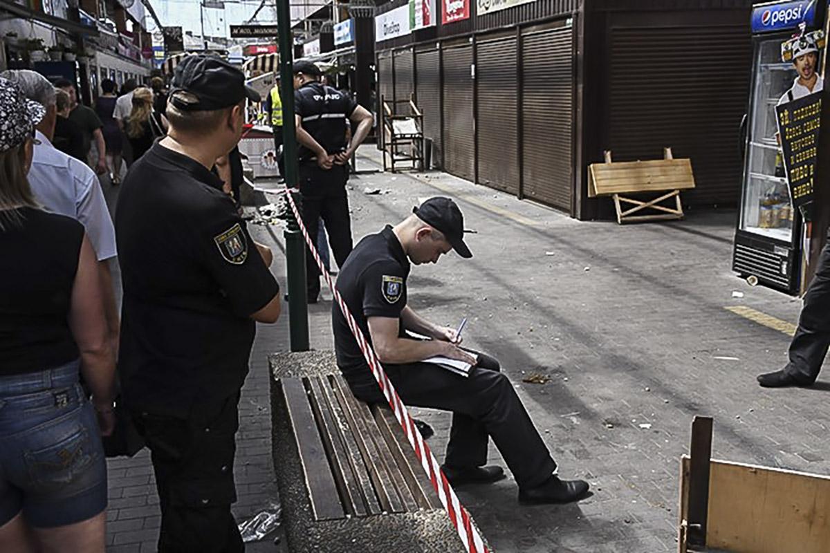 Правоохранители применили слезоточивый газ