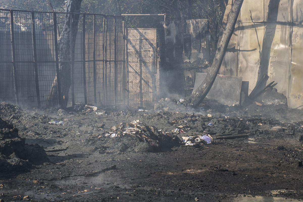 По предварительным данным, горитпункт приема вторсырья на улице Черновола, 28
