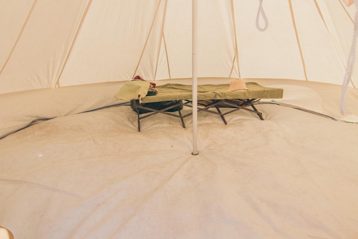 Аскетичная палатка воина