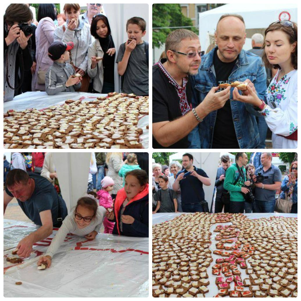 В Виннице наделали бутербродов с салом. Фото: vn.20minut.ua