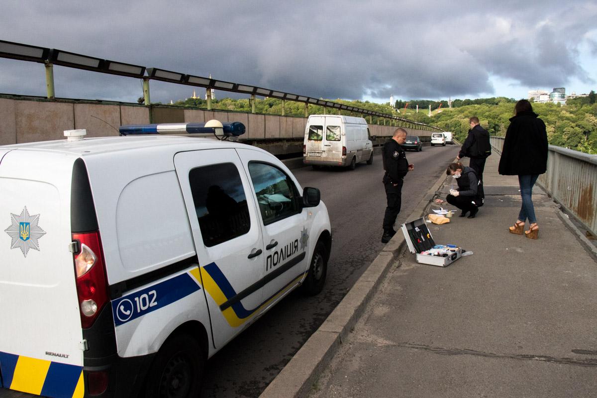Одного из участников конфликта полиция задержала с пистолетом на мосту Метро