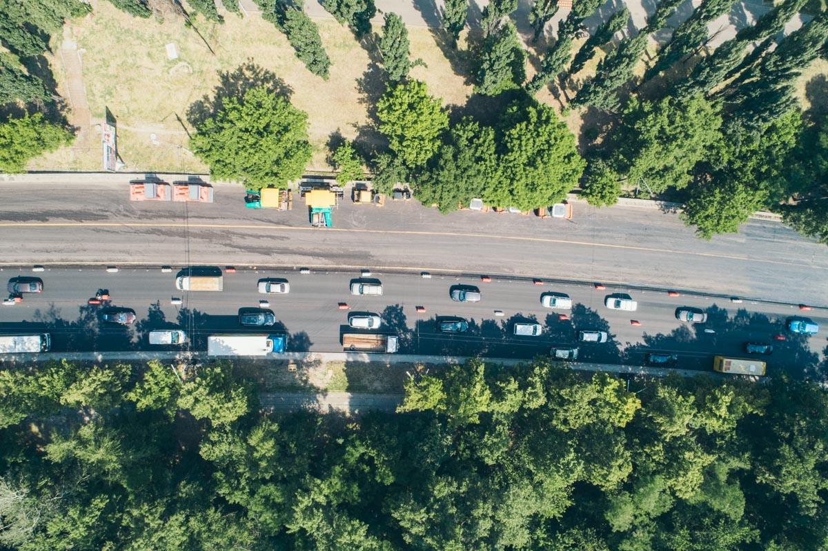 Работы велись на отрезке от улицы Ольжича до улицы Кирилловской