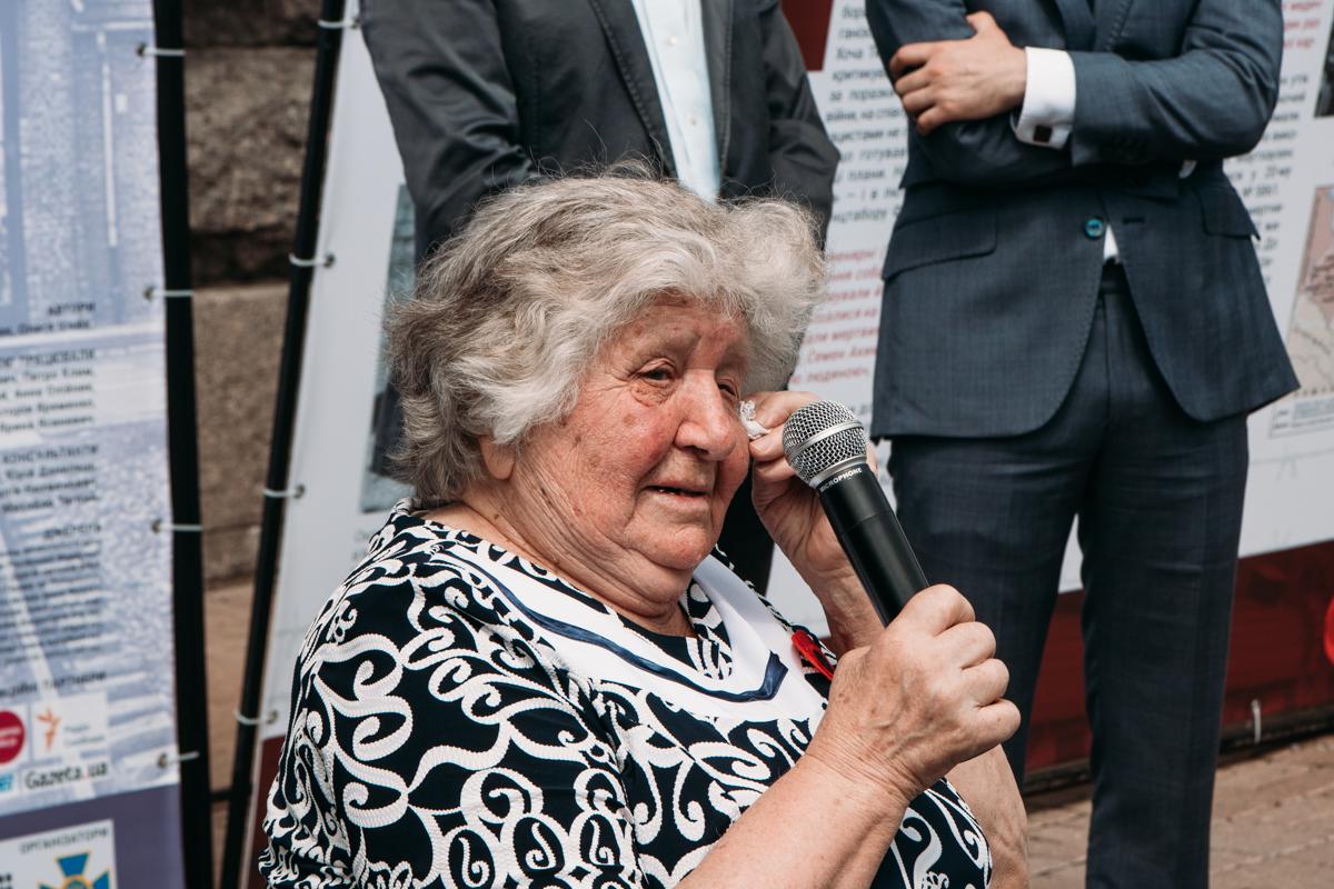 Анастасия Гулей не могла сдержать слез, вспоминая события 70-летней давности