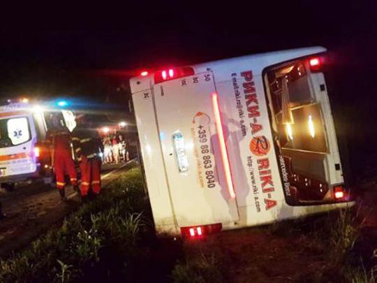 В Румынии автобус с украинскими туристами попал в ДТП