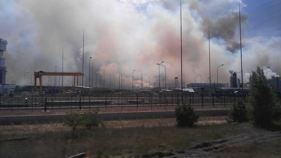 На пожар направили 11-ю Государственную пожарно-спасательную часть по охране ГСП ЧАЭС