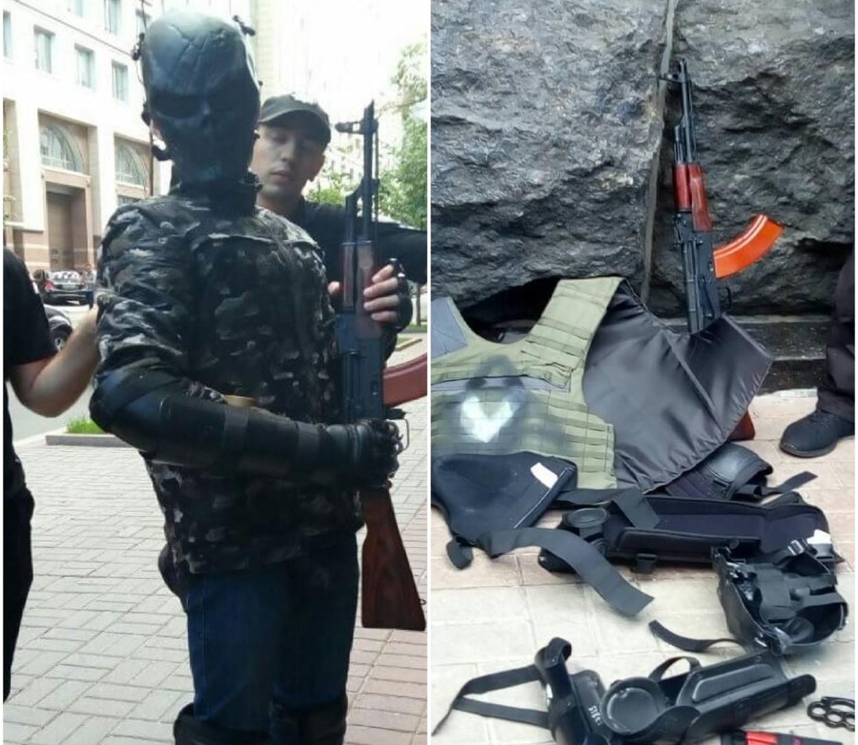 В Киеве возле Кабмина задержали мужчину с оружием