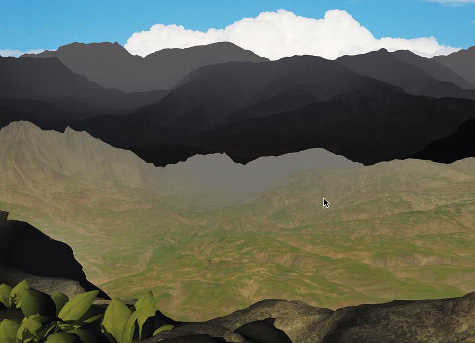 Художница Юлия Беляева использует стены галереи как полотно и создает на них виртуальные проекции