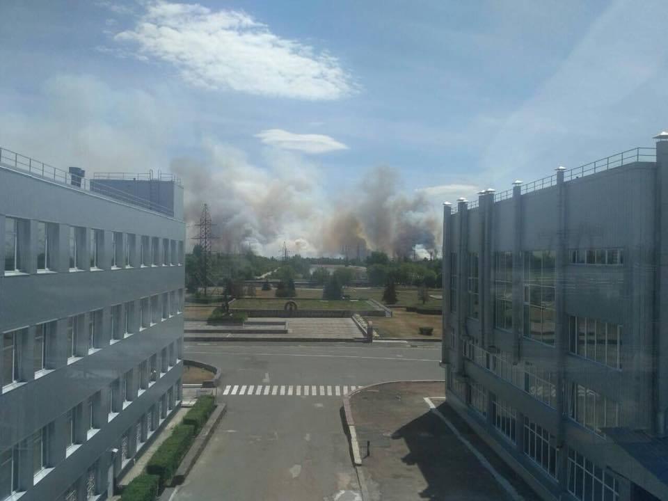 Фото пожара от пользователей соцсетей