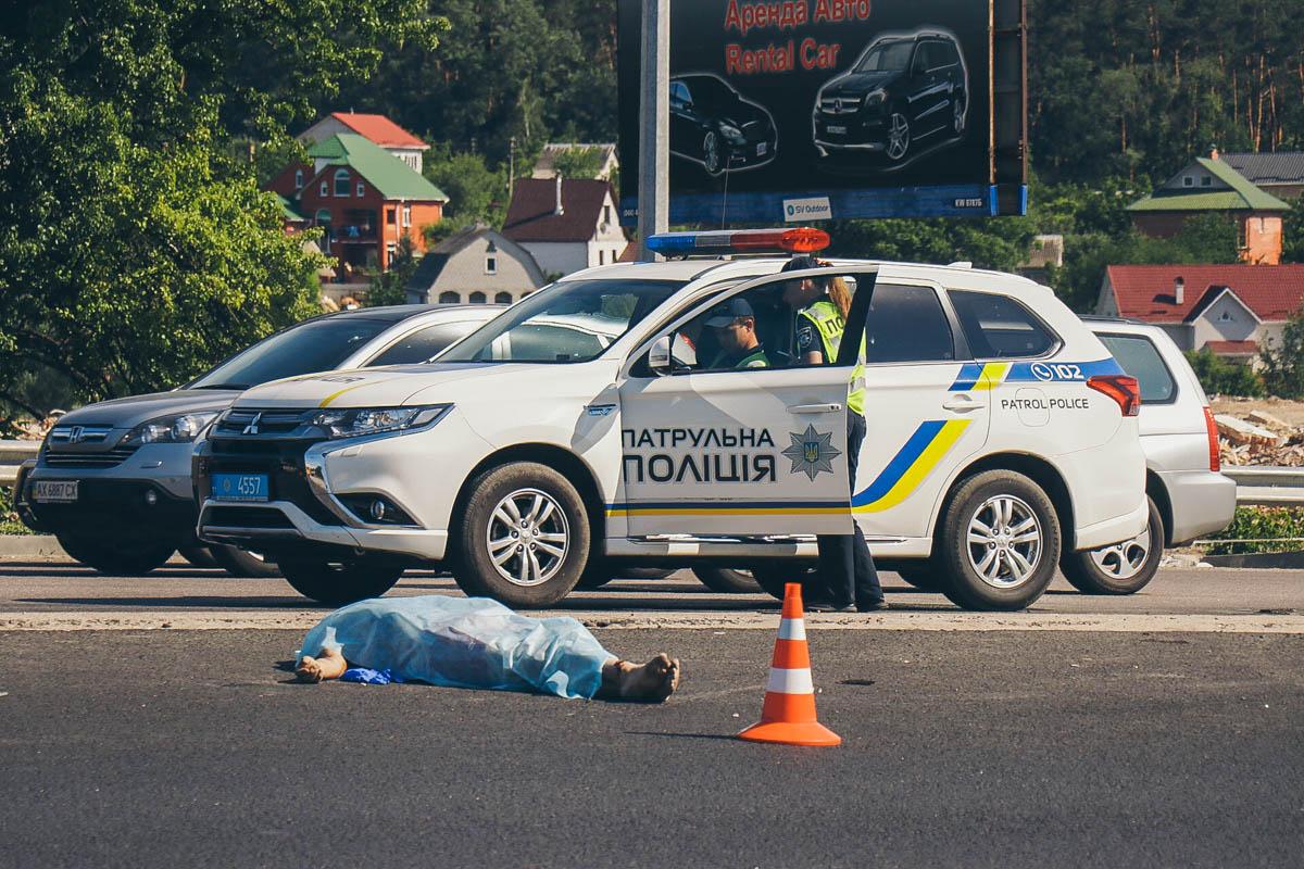 Маршрутное такси с пассажирами двигалось в сторону Киева по Одесской трассе