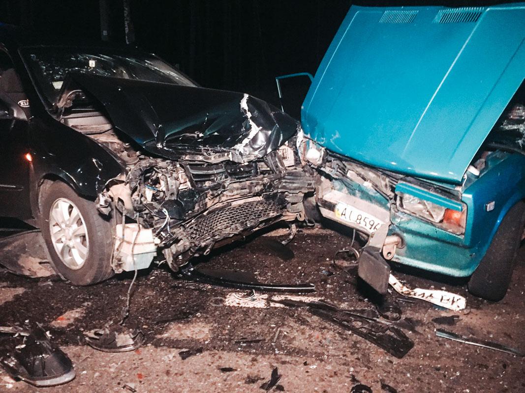 """Водитель """"копейки"""" нарушил правила дорожного движения, вследствие чего произошло столкновение с автомобилем Kia"""