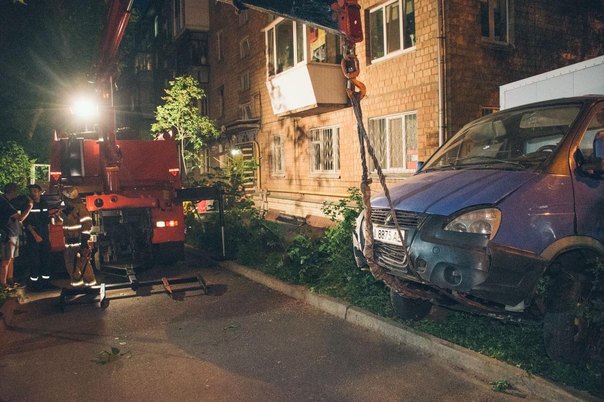 Пострадавшего водителя госпитализировали в больницу