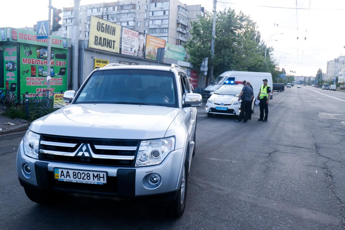 Авария произошла на регулируемом пешеходном переходе