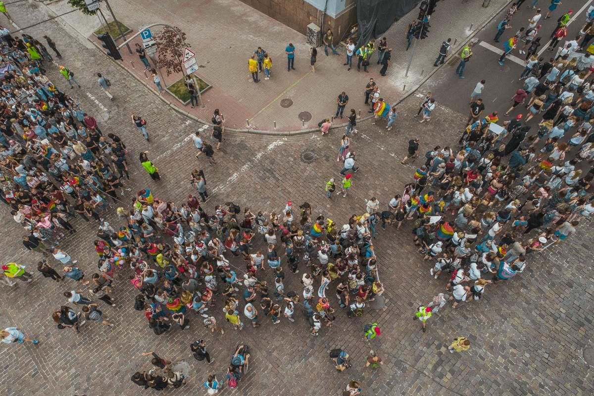В Нацполиции отметили, что ни один участник шествия не пострадал