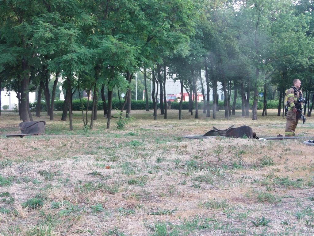 На улице Красноткацкая, 42 произошел пожар в теплосетях