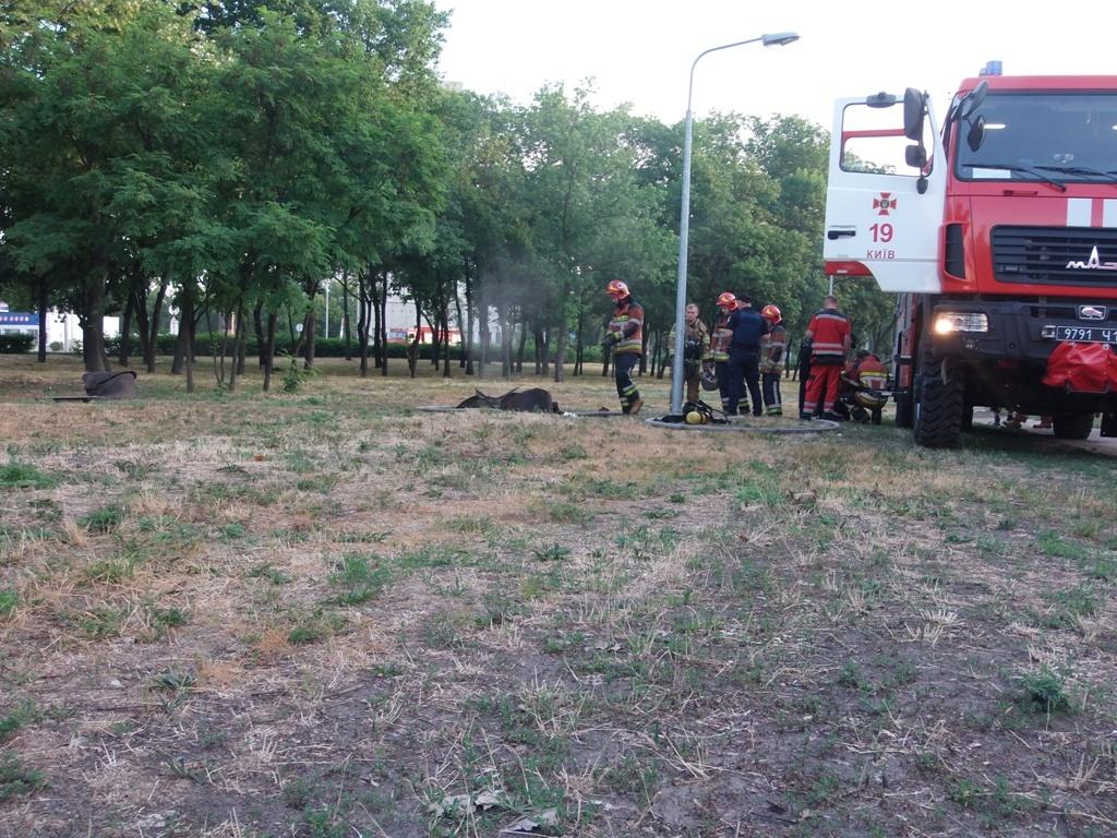 На тушение пожара у спасателей ушло около 20 минут