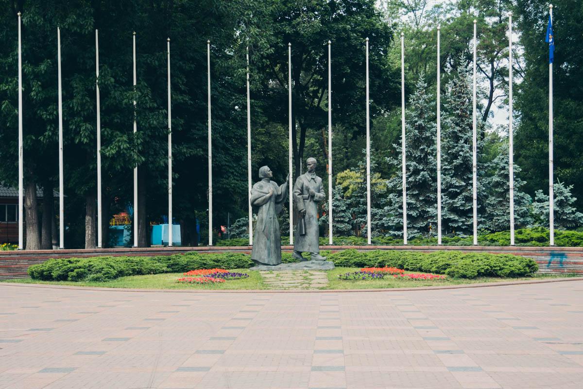"""В Киеве ремонтируют парк """"Победа"""", который расположен в Днепровском районе"""