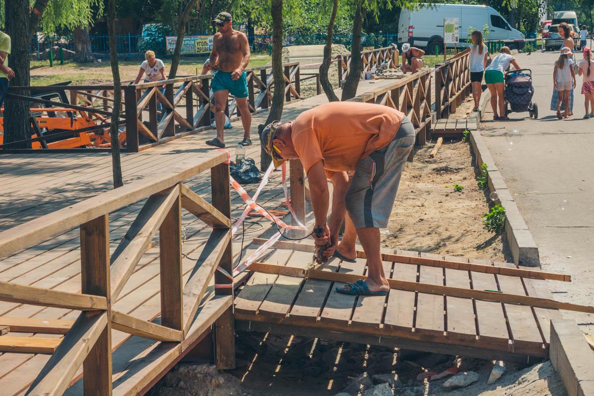 Новые объекты в парке все-таки строят