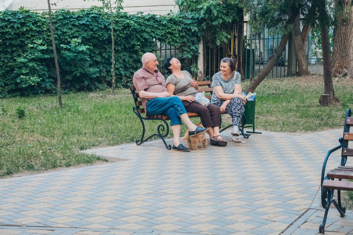 Радостные жители Шулявки