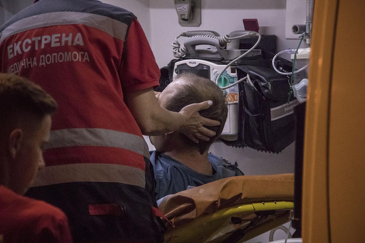 У водителя мотоцикла травмы ноги, возможно перелом
