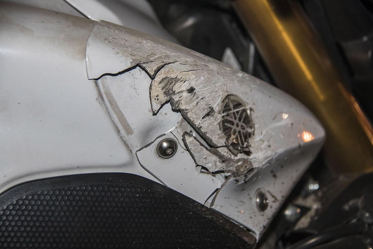 Мотоцикл пострадал не сильно