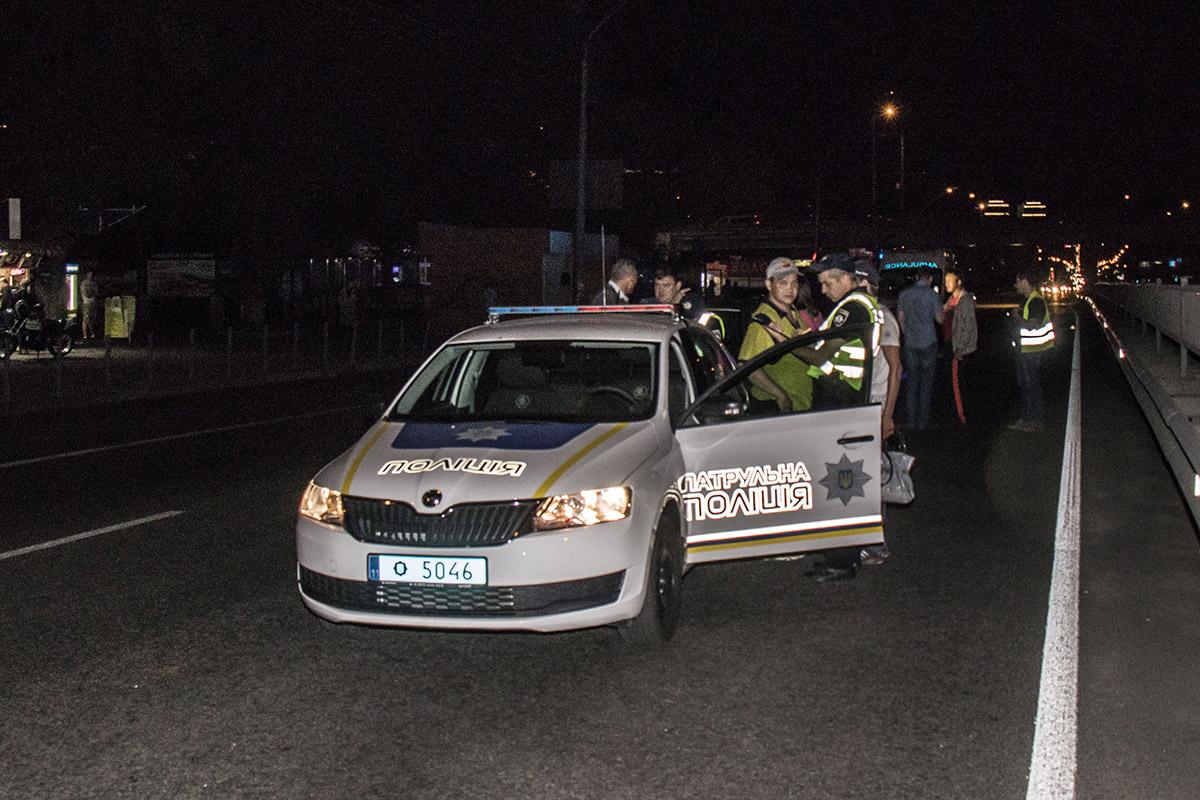 На месте работали сотрудники патрульной полиции и медики
