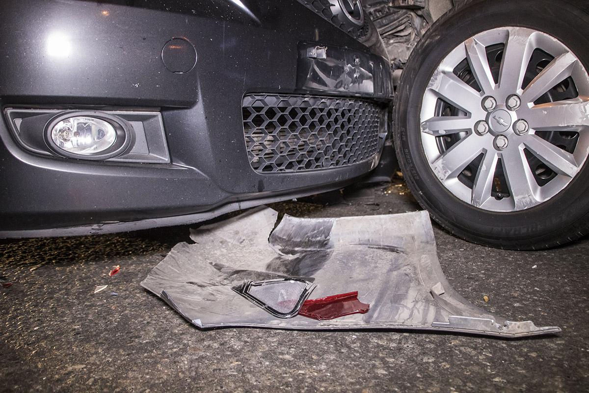 Авария случилась примерно в 19:45