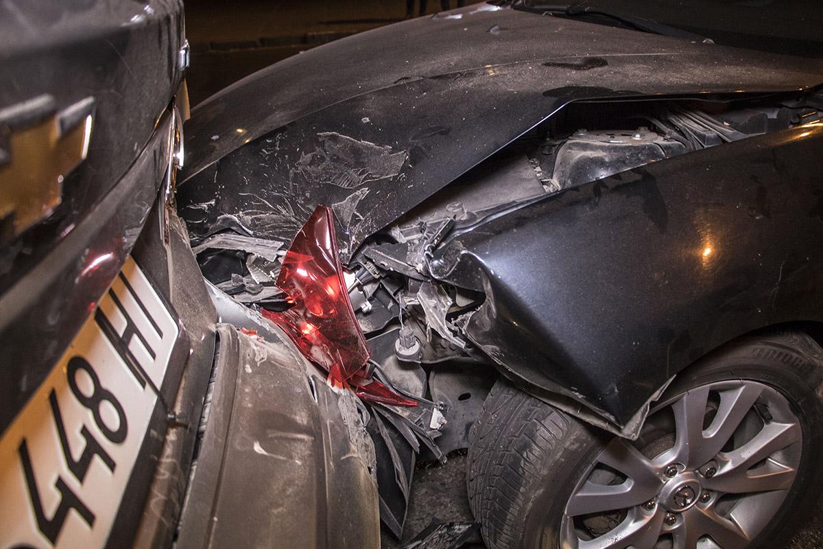 Машины получили незначительные повреждения