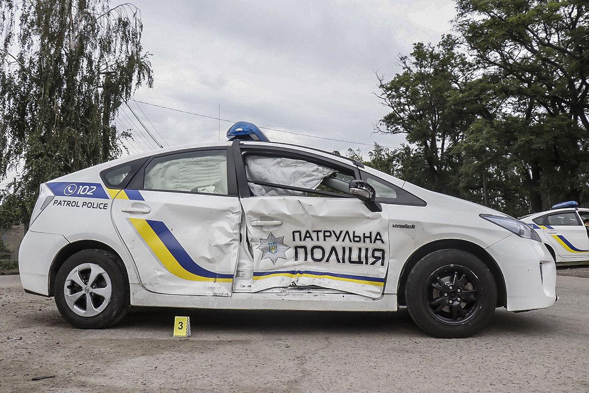 В результате аварии пострадала патрульная