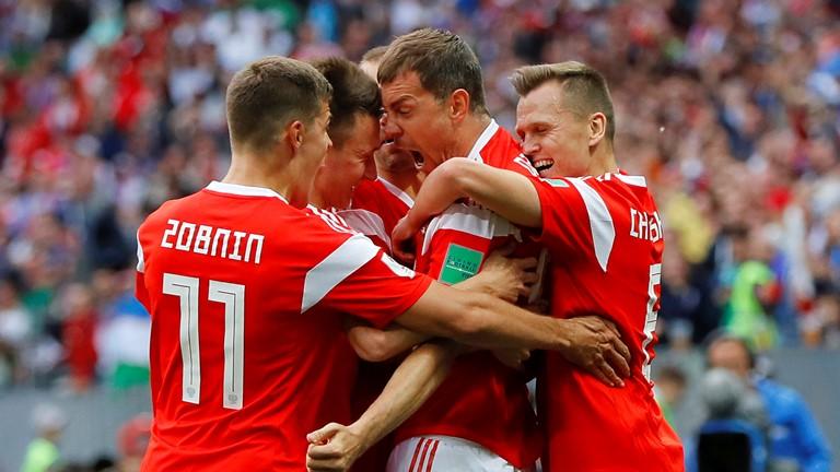 Результат встречи - 5:0 в пользу России