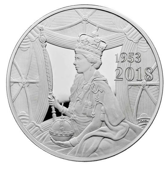 В честь королевы Елизаветы выпустили килограммовую монету