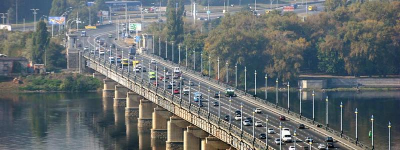 В Киеве на мосту Патона перекроют дорогу
