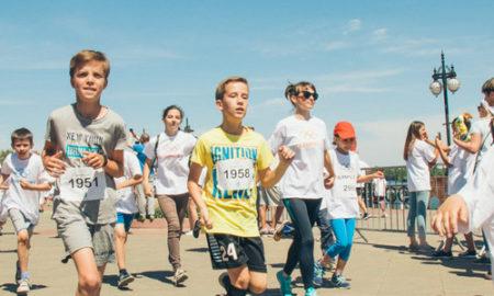 На Оболонской набережной прошел Олимпийский день