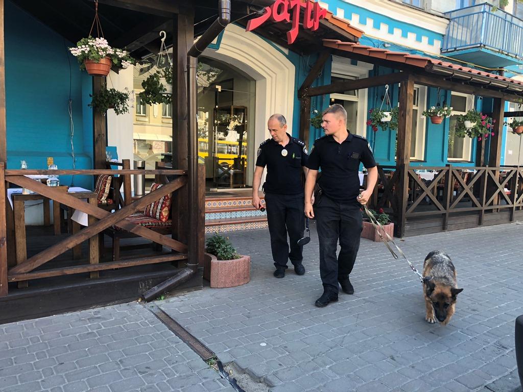 Специалисты с собаками ищут взрывчатку