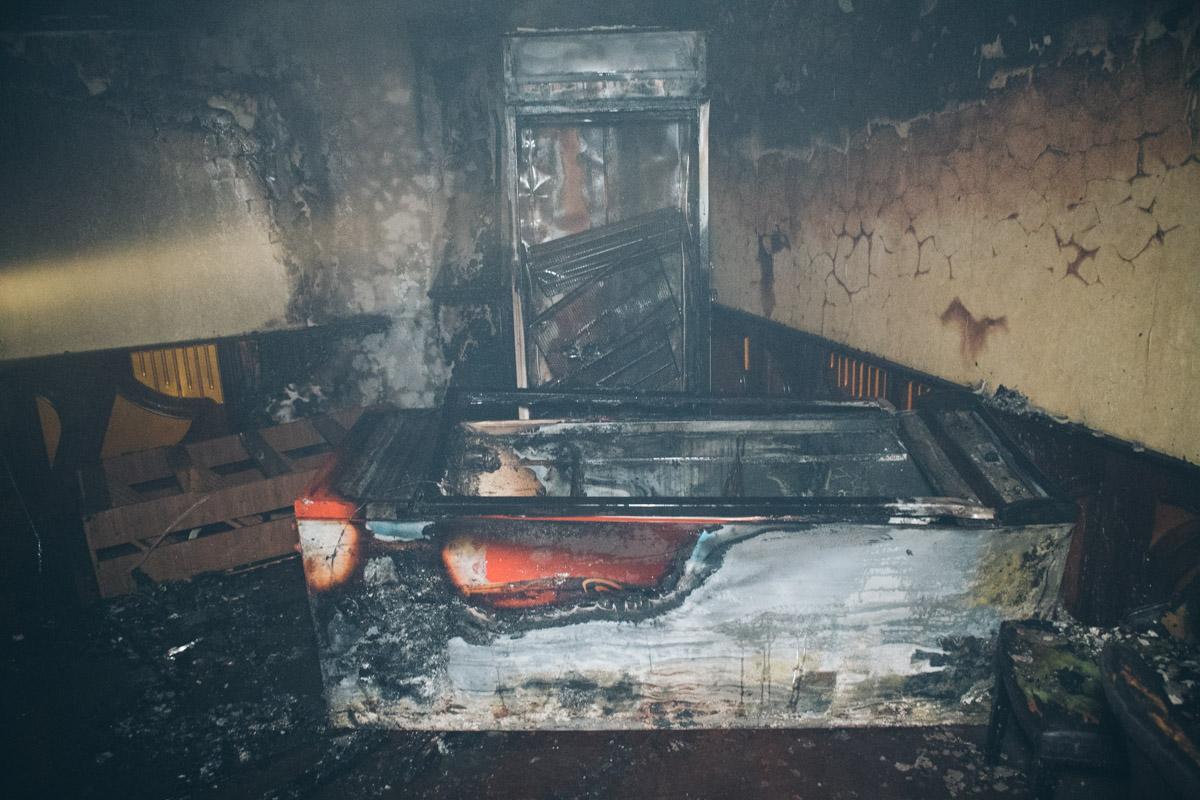 Предварительно, возгорание началось с холодильников