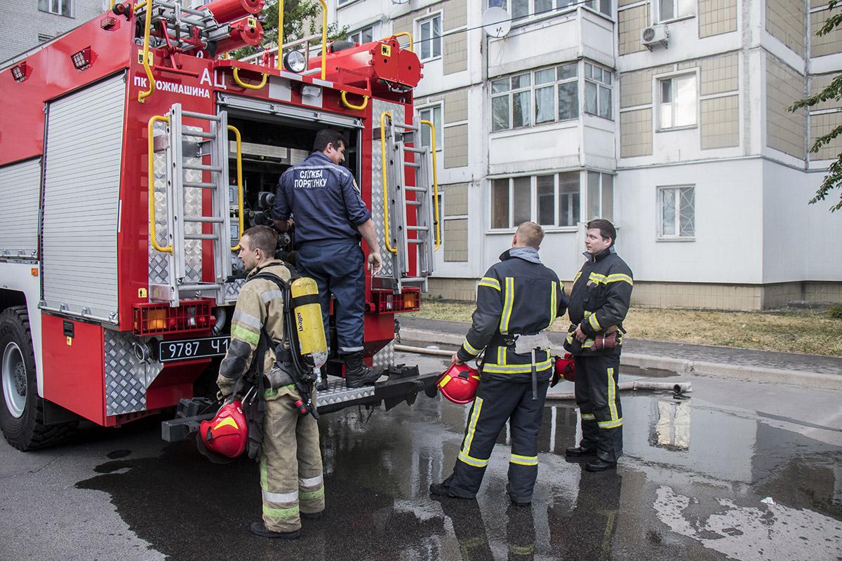 Площадь возгорания составила около 6 квадратных метров