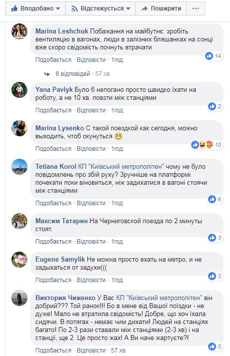Комментарии пользователей к посту киевской подземки
