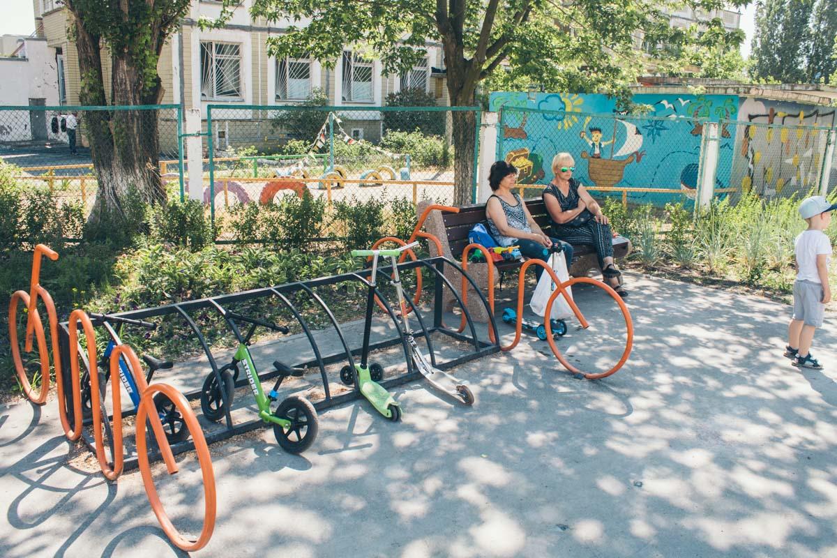 Современная вело-парковка