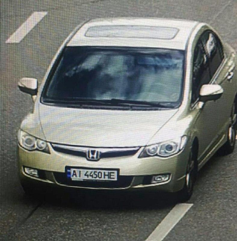 Разыскиваемый полицией автомобиль Honda Civic. Кадр: Страна.ua