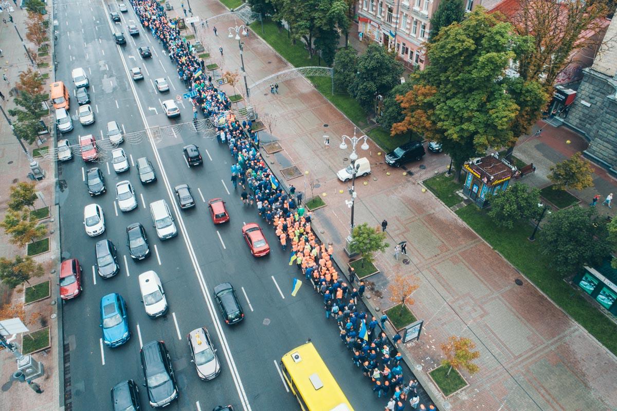 В среду, 11 июля, в центре Киева митингjdfkb сотрудники химической промышленности