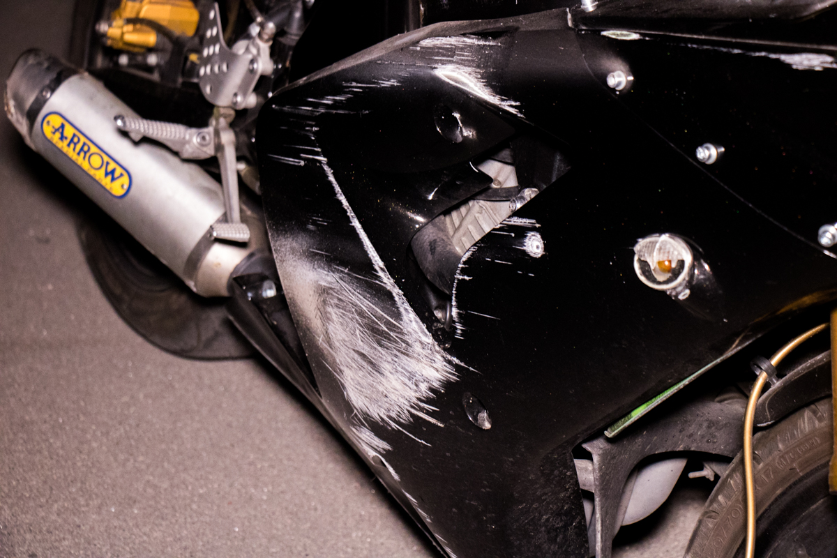 По предварительной информации, мотоцикл двигался в сторону улицы Стеценко. На нем ехали водитель и пассажир-девушка