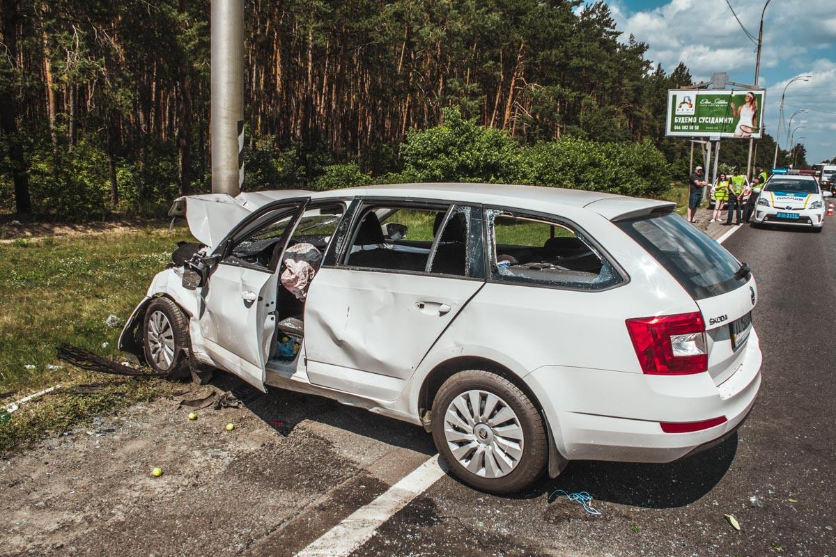 """По сравнению с """"французом"""", у водителя Škoda повреждения несущественны"""