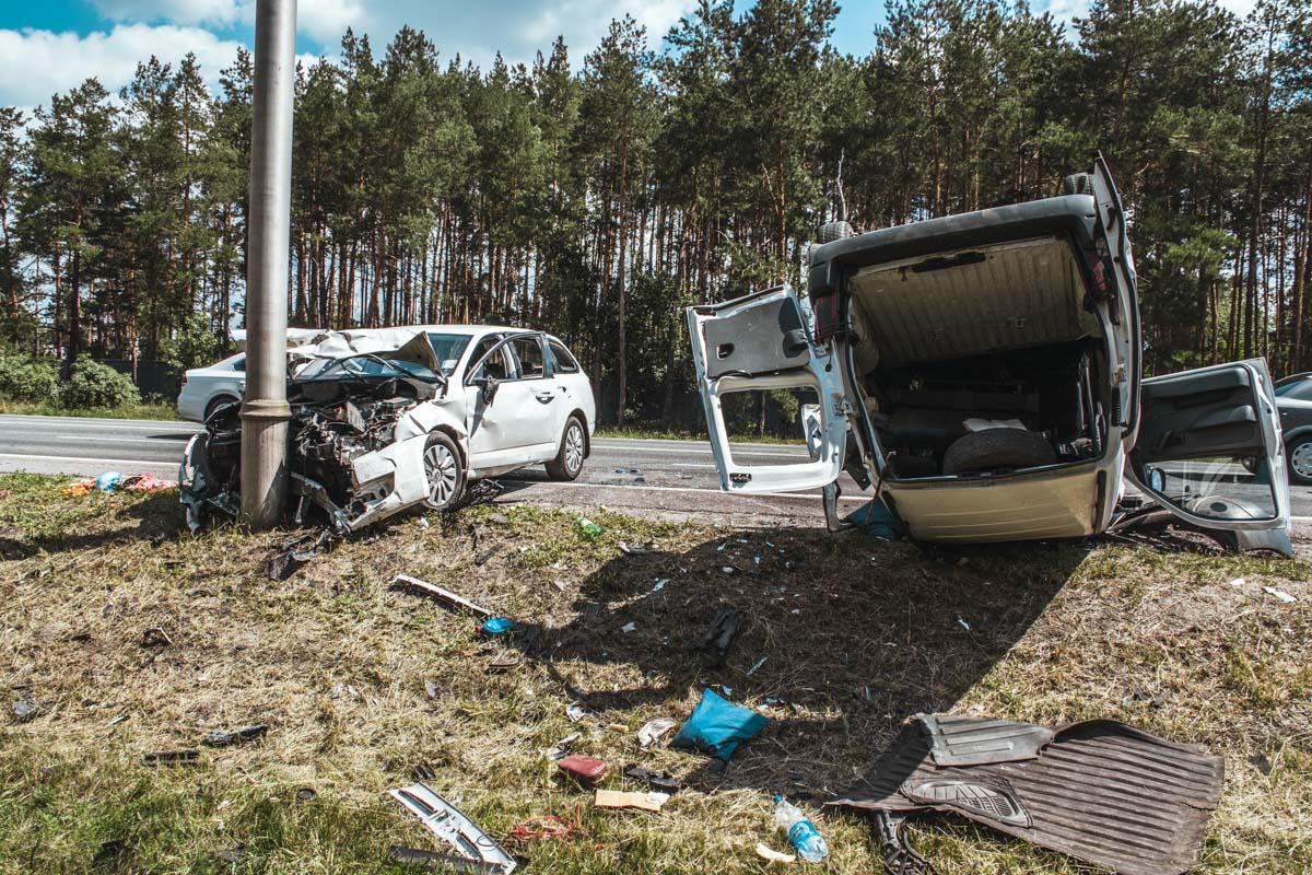 Утром 7 июля произошло ДТП на трассе под Киевом