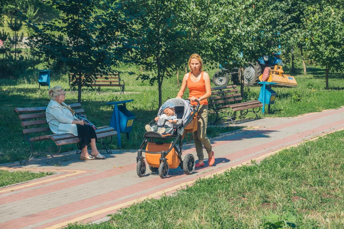 Парк популярная зона отдыха местных жителей