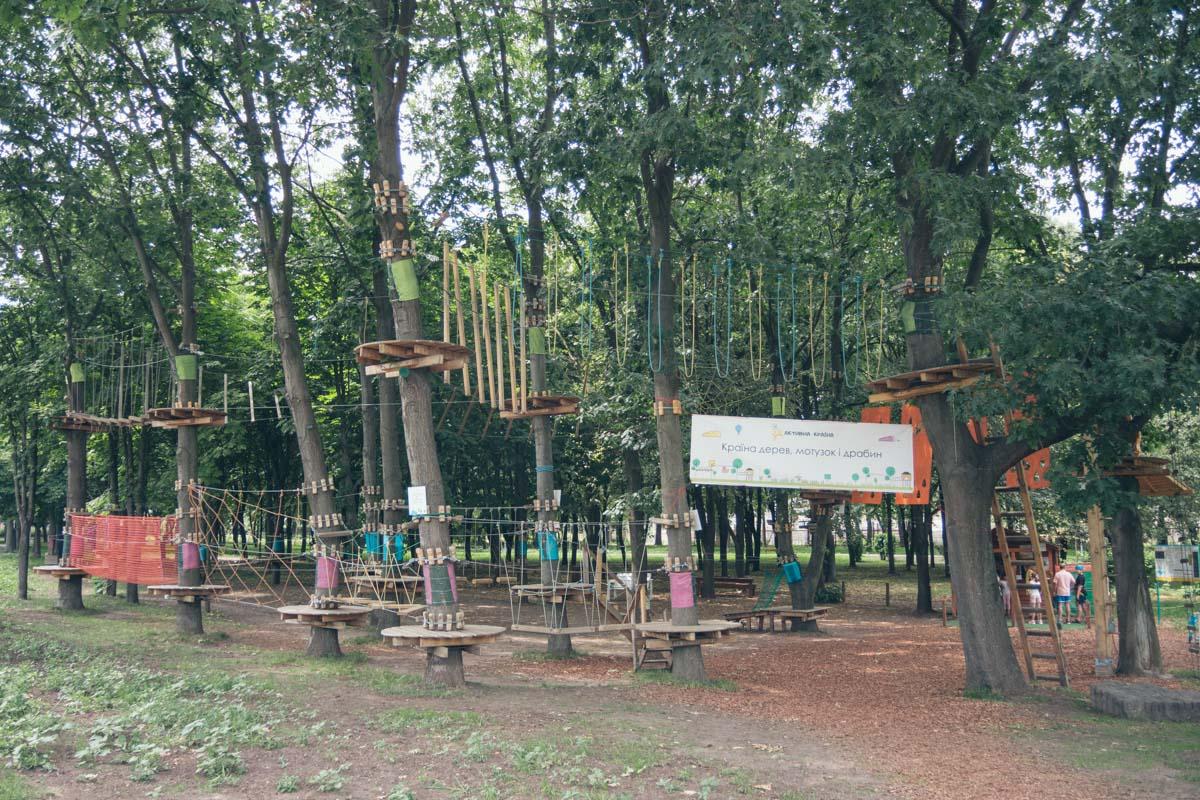 Еще одно развлечение - веревочный парк