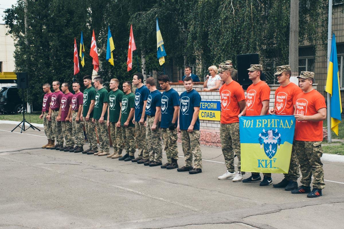 Четыре команды соревновались в Киеве за звание стронгменов