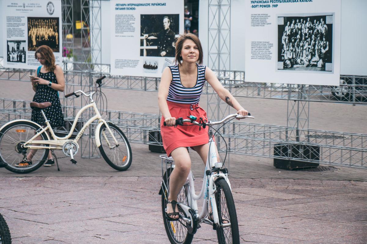 Хорошее настроение участницы велопарада взяли с собой
