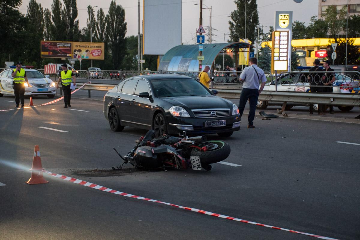 9 июля в Киеве на проспекте Гагарина произошло тройное ДТП