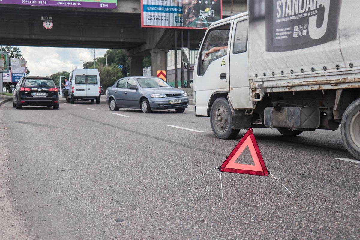 7 июля в Киеве под мостом Метро произошло ДТП