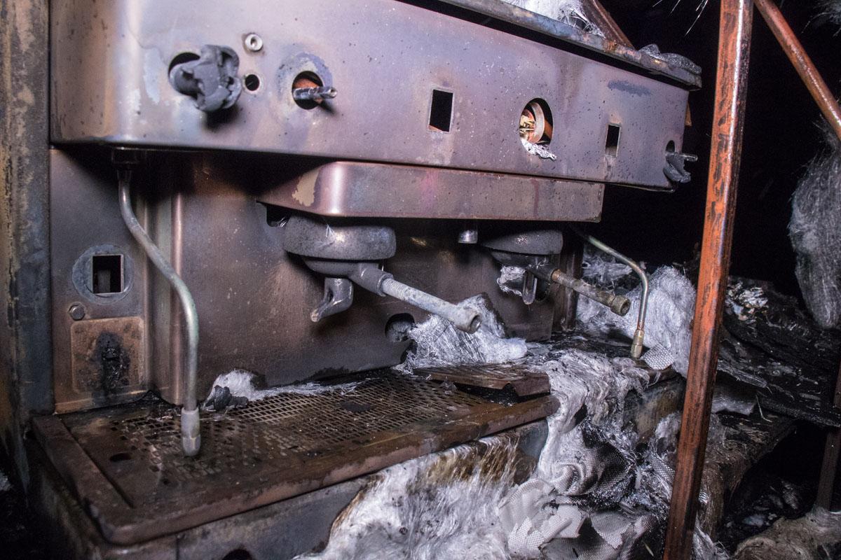 Кофейня полностью сгорела